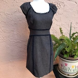 Rebecca Taylor Tweed Cap Sleeve Pencil Dress
